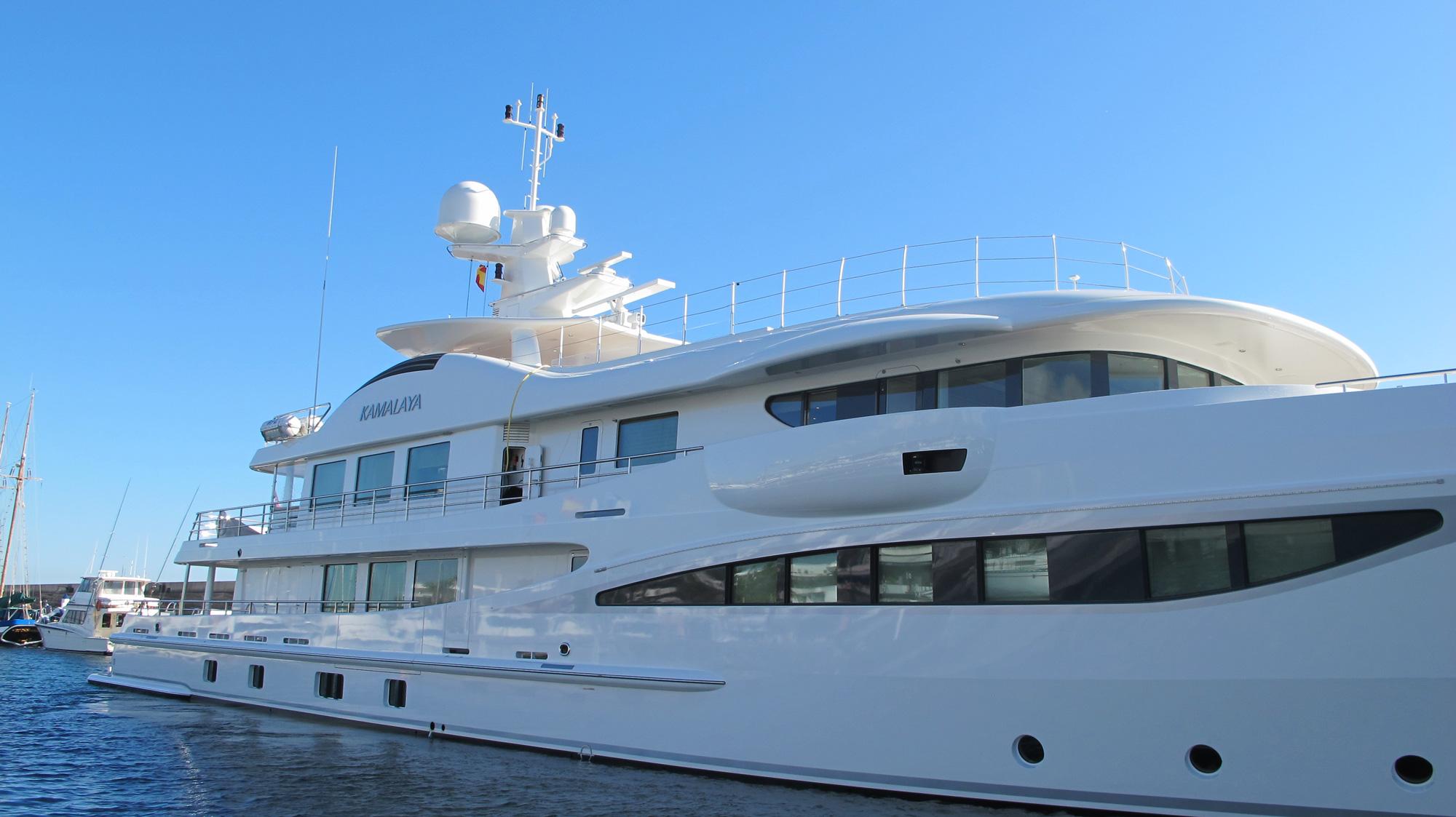 Kamalaya superyacht docked at a marina in Lanzarote.